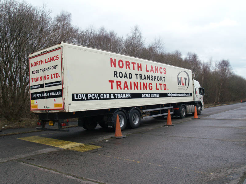 Class 1 HGV LGV Reversing Practice Area Markings